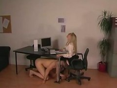 Blonde, Office, Stockings, Gotporn.com