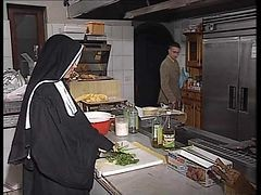 Nun, Kitchen, German, Xhamster.com